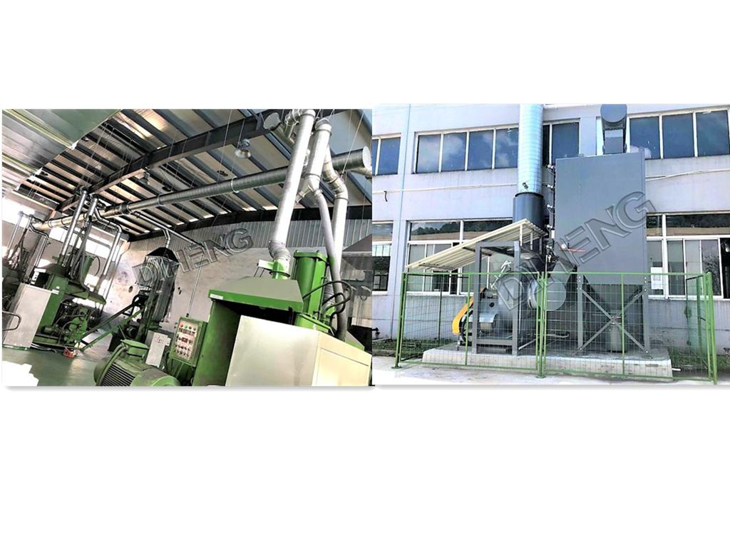 密炼机流水线粉尘收集   高效滤筒除尘系统