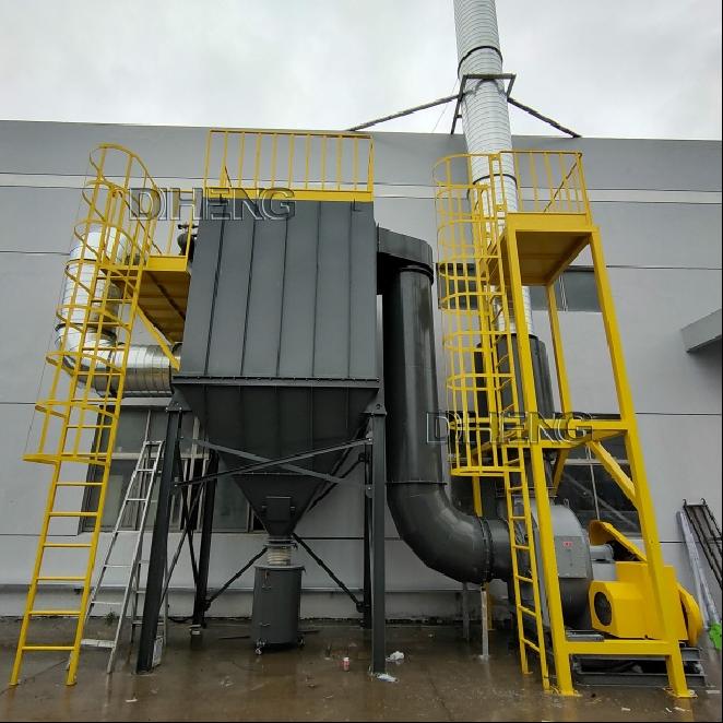 PVC管道中央收集粉尘  整厂制程直立滤筒除尘系统