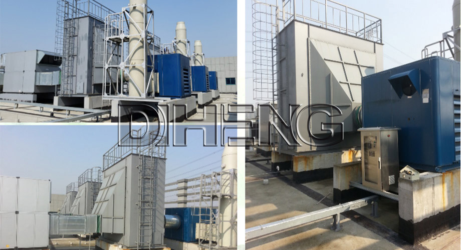 电子材料行业  有机废气活性炭吸附系统