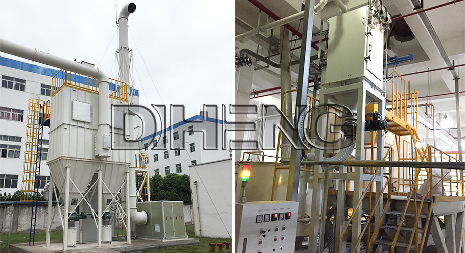 PVC地板行业制程  中央干式防爆除尘系统